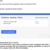 A User has sent you 2 files using OneDrive - Phishing Müll