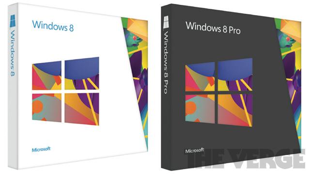 Windows 8 Verpackung