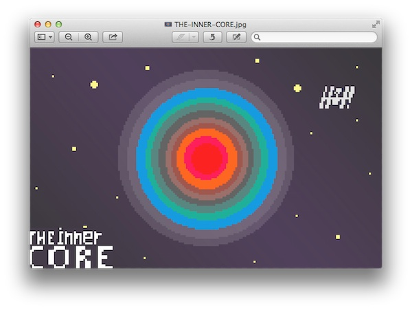 the inner core pixelgrafik