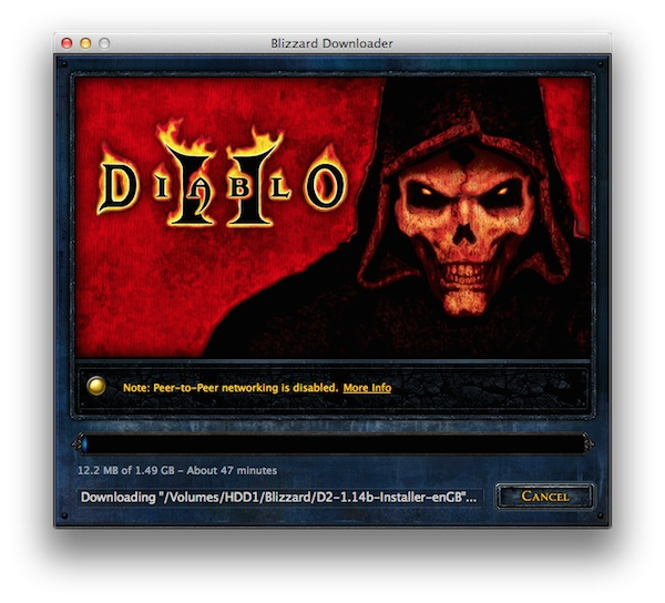 diablo 2 downloader won't start, does not start, diablo 2 mac